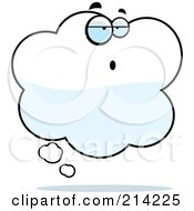Royalty Free RF Clipart Illustration Of A Confused Idea Cloud Character