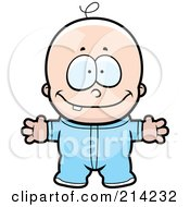 Royalty Free RF Clipart Illustration Of A Baby Boy With One Tooth And His Arms Open by Cory Thoman