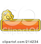 Royalty Free RF Clipart Illustration Of A Yellow Bird On A Shiny Orange Sign