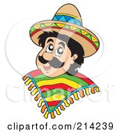 Royalty Free RF Clipart Illustration Of A Mexican Man by visekart