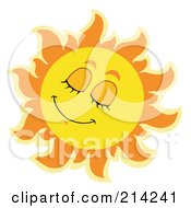 Royalty Free RF Clipart Illustration Of A Summer Sun Napping