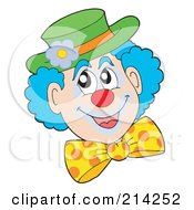 Royalty Free RF Clipart Illustration Of A Happy Clown Face