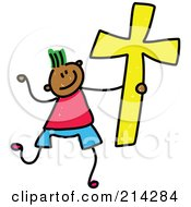 Royalty Free RF Clipart Illustration Of A Childs Sketch Of A Christian Boy