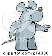 Royalty Free RF Clipart Illustration Of An Angry Rat Pointing To The Right