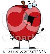 Waving Red Apple Guy