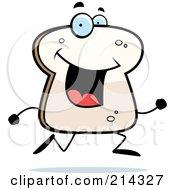 Happy Bread Character Running