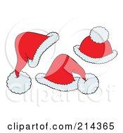 Digital Collage Of Three Santa Hats by visekart