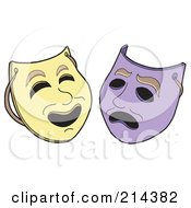 Royalty Free RF Clipart Illustration Of A Digital Collage Of Theater Masks by visekart