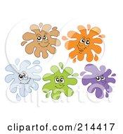 Royalty Free RF Clipart Illustration Of A Digital Collage Of Splatter Faces 2 by visekart