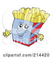 Royalty Free RF Clipart Illustration Of A Happy French Fry Carton