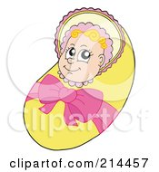 Royalty Free RF Clipart Illustration Of A Bundled Baby Girl