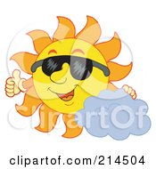 Royalty Free RF Clipart Illustration Of A Summer Sun Smiling And Sporting Shades 4