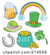 Royalty Free RF Clipart Illustration Of A Digital Collage Of St Patricks Day Items 1 by visekart