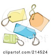 Royalty Free RF Clipart Illustration Of A Digital Collage Of Tags