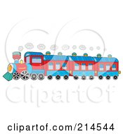 Royalty Free RF Clipart Illustration Of A Steam Train