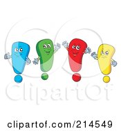 Royalty Free RF Clipart Illustration Of A Digital Collage Of Exclamation Points 1 by visekart