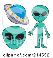 Royalty Free RF Clipart Illustration Of A Digital Collage Of Aliens by visekart
