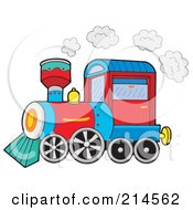 Royalty Free RF Clipart Illustration Of A Small Train