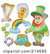 Royalty Free RF Clipart Illustration Of A Digital Collage Of St Patricks Day Items 2 by visekart