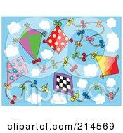 Digital Collage Of Kites
