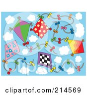 Royalty Free RF Clipart Illustration Of A Digital Collage Of Kites