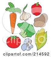 Digital Collage Of Vegetables