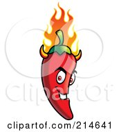 Royalty Free RF Clipart Illustration Of A Flaming Evil Chili Pepper Devil