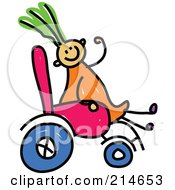 Royalty Free RF Clipart Illustration Of A Childs Sketch Of A Diabled Girl