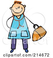 Royalty Free RF Clipart Illustration Of A Childs Sketch Of A Doctor