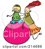 Royalty Free RF Clipart Illustration Of A Childs Sketch Of A Diabled Boy