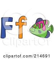 Childs Sketch Of F Is For Fish
