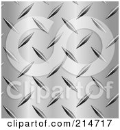 Royalty Free RF Clipart Illustration Of A Closeup Of A Diamond Plate Pattern