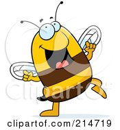 Royalty Free RF Clipart Illustration Of A Happy Dancing Bee by Cory Thoman