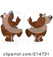 Royalty Free RF Clipart Illustration Of A Digital Collage Of A Dancing Bear In Different Poses