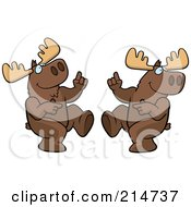 Royalty Free RF Clipart Illustration Of A Digital Collage Of A Dancing Moose In Different Poses
