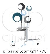 Royalty Free RF Clipart Illustration Of A Techno Circuit Connection Tree by MilsiArt