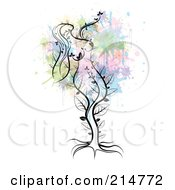 Royalty Free RF Clipart Illustration Of A Mother Nature Tree by MilsiArt