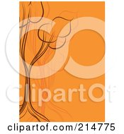 Orange And Brown Tree Design Background