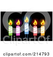 Royalty Free RF Clipart Illustration Of A Stick People Candle Group by NL shop