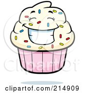 Happy Cupcake Character