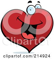 Royalty Free RF Clipart Illustration Of A Happy Heart Character by Cory Thoman