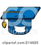 Happy Graduation Cap Character