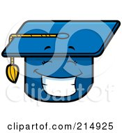 Royalty Free RF Clipart Illustration Of A Happy Graduation Cap Character