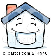 Royalty Free RF Clipart Illustration Of A Happy House Character
