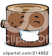 Royalty Free RF Clipart Illustration Of A Happy Log Character