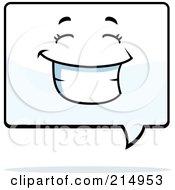 Happy Word Balloon Character