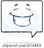 Royalty Free RF Clipart Illustration Of A Happy Word Balloon Character