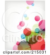 Royalty Free RF Clipart Illustration Of A Background Of Colorful Transparent Splatters On Off White