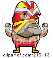 Royalty Free RF Clipart Illustration Of A Lucha Libre Luchador Wrestler by Cory Thoman