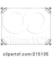 Royalty Free RF Clipart Illustration Of A Black And White Ornate Swirly Certificate Border